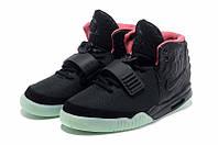 Кроссовки Nike Air Yeezy 2 черно-салатовые