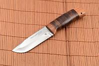 Охотничий нож, нож для охотника, кожаный чехол в комплекте