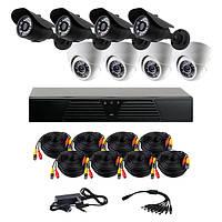 Комплект AHD видеонаблюдения на 8 камер (4+4) CoVi Security AHD-44WD KIT