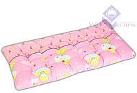 Матрас ватный детский розовый 60*120*6 см
