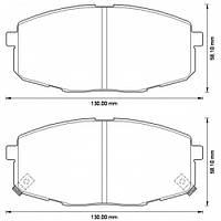 Колодки тормозные передние KIA CARENS 02-06,(пр-во ICER 181540)