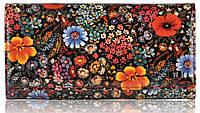 Женский кожаный кошелек 2030-f29 букет оранжевый