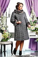 Пальто женское зимнее из шерстяной итальянской ткани размер 48