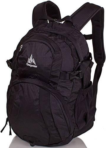 Мужской надежный городской рюкзак 20 л. Onepolar W1961-black черный