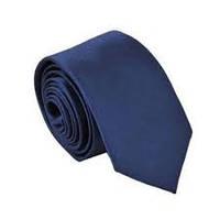 Темно-синий узкий галстук , микрофибра высокого качества