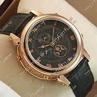 Часы мужские наручные Patek Philippe Sky Moon Black/Gold/Black