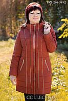 Пальто женское большого размера в кантами р.60-62
