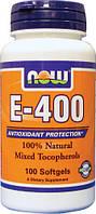 Витамин Е-400, в капсулах, комплекс 100 капсул из США, 100% оригинал, купить, цена, отзывы