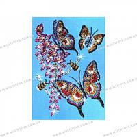 Мозаика из блесток и бусин Бабочки