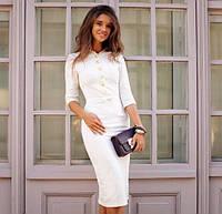 Женское красивое облегающее платье с пуговицами
