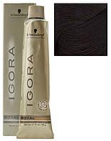 4-60 перманентный краситель для волос - средне-коричневый шоколадный (Igora Royal Absolutes), 60 мл