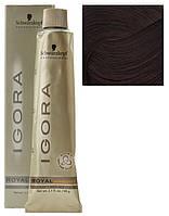 6-60 перманентный краситель для волос - темно-русый шоколадный натуральный (Igora Royal Absolutes), 60 мл