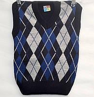 Вязаный жилет для мальчика 3-5 лет OGUT темно-синий - 104-31