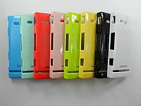 Чехол пластиковый на Sony Xperia U ST25i Bubble Pack  (малиновый)