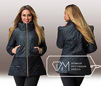 Модная женская черная куртка с гипюром, р-ры 48 , 50, 52 , 54