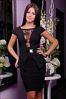 Черное платье с гипюровой вставкой  IR Феличе