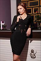 Классическое женское платье IR Евро  цвета: коричневый | чёрный