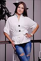 Пиджак IR Трикотаж; цвета: белый | чёрный,  состав:50% вискоза,40%полиэстер,10%шерсть