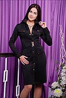 Дизайнерское черное платье IR Сафари
