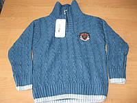 Детский теплый свитер с высоким воротником для  мальчика 116-140 Турция