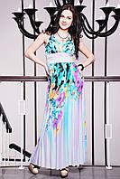 Сарафан с ярким цветочным принтом  IR Фея  цвета: бирюза | пудра