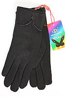 Женские стрейчевые перчатки в черном цвете, фото 1
