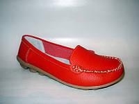 Т459 - Туфли женские красные натуральная кожа