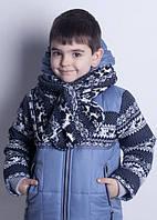 Куртка детская. Синий цвет. Наполнитель-синтепух  + код MDC-IL032-SIN86