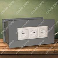 Встраиваемый сейф тайник с блоком розеток