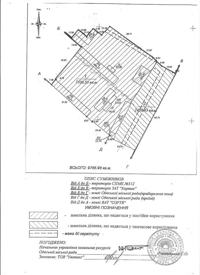 Продажа территории производственной складской базы в городе Одесса