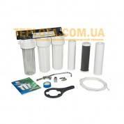 Проточный бытовой фильтр для воды Aquafilter FP3-2 (Аквафильтр, трехступенчатый подмоечный)