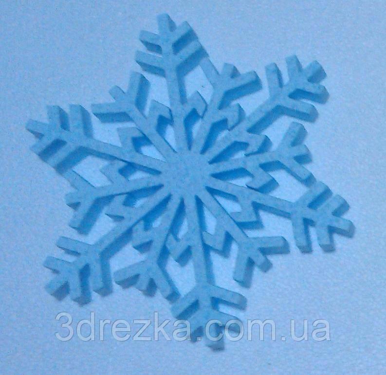 Снежинки своими руками из пенопласта