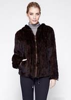"""Куртка из вязаной норки модель """"Шерон""""( шоколадный, с подкладкой)"""