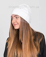 Шапка с вуалью белая