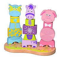Деревянная игрушка пирамидка T65-008