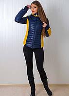 Женская курточка на молнии со съемным капюшоном