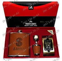 Подарочный Набор №2075 $ Доллар Фляга+стопка+лейка+пепельница Оригинальный подарок Необычные идеи подарка