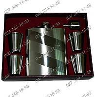 Мужской подарочный набор GT-060 Фляга+4 стопки+лейка Необычные идеи подарка для мужчин