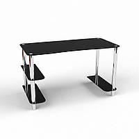 Стол из черного стекла компьютерный модель Магистр
