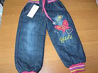Детские теплые джинсы на махре для девочки 5 Турция