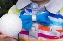 Новогодняя бабочка на шею голубая для мальчика
