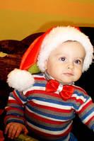 Новогодняя бабочка на шею красная для мальчика