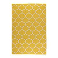 """ИКЕА """"СТОКГОЛЬМ"""" Ковер, безворсовый, ручная работа сетчатый орнамент, желтый сетчатый орнамент желтый, 170x240 см."""
