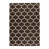 """ИКЕА """"СТОКГОЛЬМ"""" Ковер, безворсовый, ручная работа сетчатый орнамент, сетчатый орнамент коричневый коричневый, 170x240 см."""