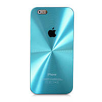 Чехол для Iphone 6/6S CD алюминий и пластик - Голубой