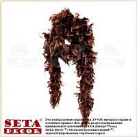 Боа коричневое из натуральных перьев.