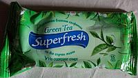"""Универсальные влажные салфетки Superfresh """"Зеленый чай"""" 15 шт"""