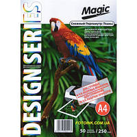 Дизайнерская бумага Мagic А4 Двухсторонняя   Снежный  Перламутр ( ткань)  250 г /м², 50л