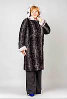 Модная шуба больших размеров (рр 48-58) искусственная овчина