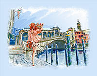 Частичная вышивка бисером Идейка Прогулка по Венеции (ВБ1039) 30 х 40 см